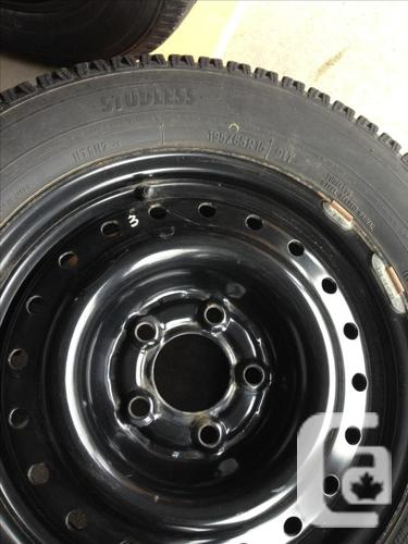 $380 • For Sale: Winter Tires + Rims 195/65R15 / 91T