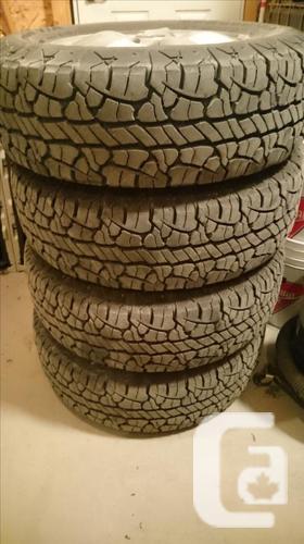 4 BF Goodrich Rugged Terrain T/A tires on 2006 Hyndai