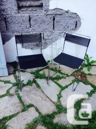 4 chaises pasta, design eighty, acier et fil de pvc - 0