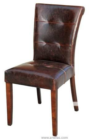 leather dining room chairs in antique brown for sale in mississauga