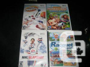 4 nintendo wii games - $10