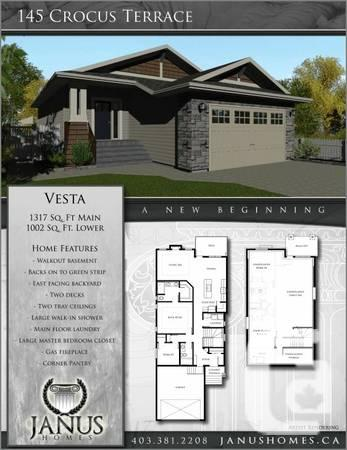 $404900 / 2br - 1317ft² - Janus Houses constructed