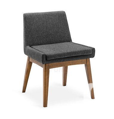 $459 2 x Mid-Century Modern Dining Chair Brown Wood &