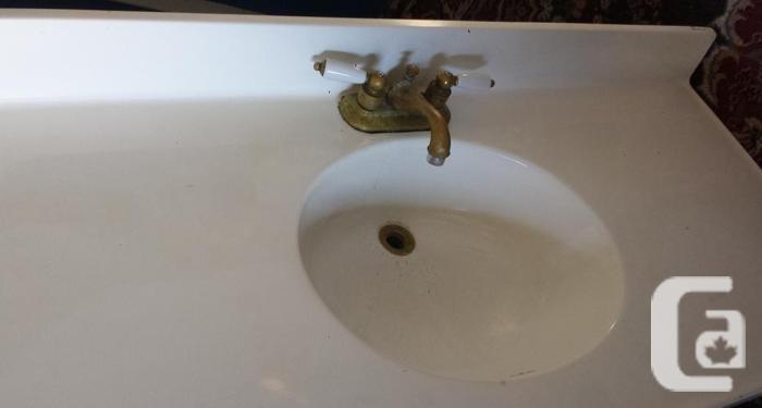 "48"" Bathroom Countertop & Brass Faucet"