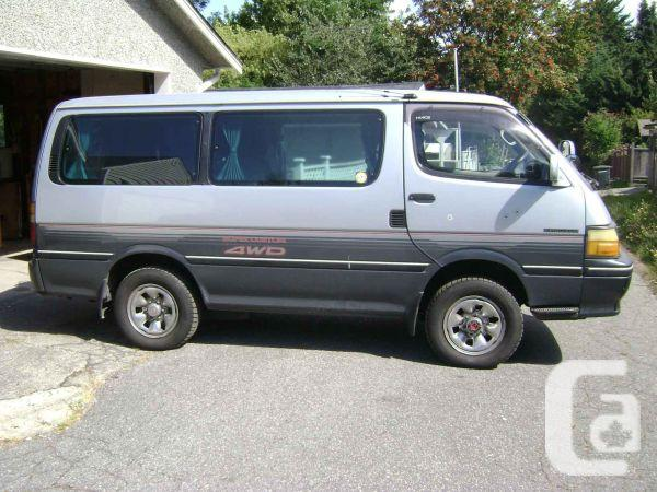 5c4cbed552 4X4 TOYOTA VAN VEG AND DIESEL DUAL FUEL HIACE 1991 for sale in ...