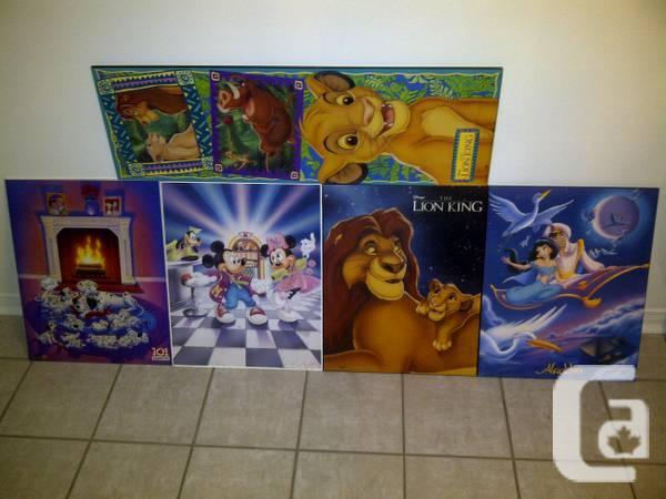(5) DISNEY PICTURE BOARDS - $4