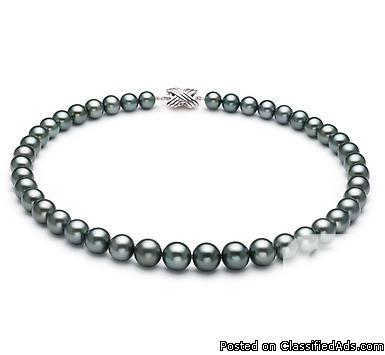 64 -BLACK PEARL NECKLACE