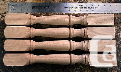 $64 4 Red Oak Turned Legs 17