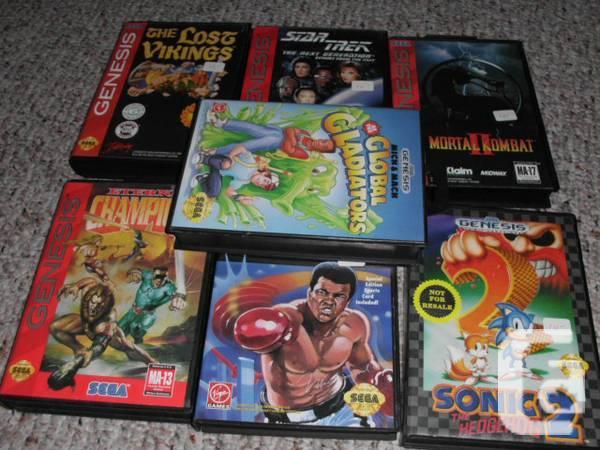 7 complete sega gensis games - $65