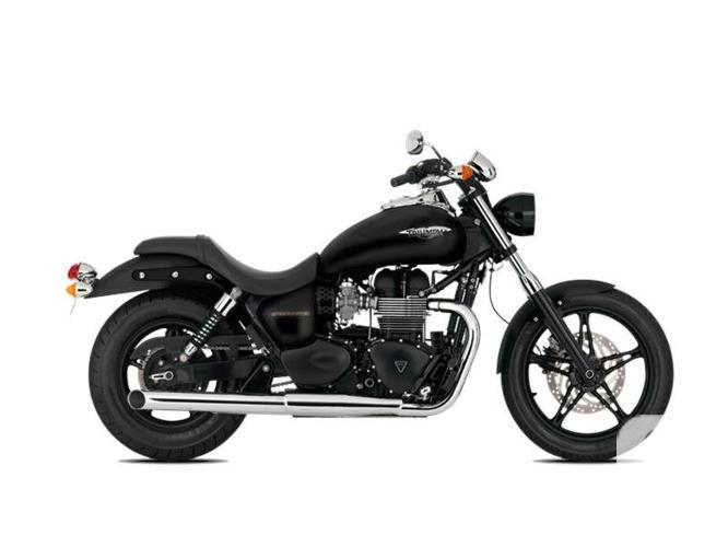 $9,400 2016 Triumph Speedmaster Jet Black Motorcycle