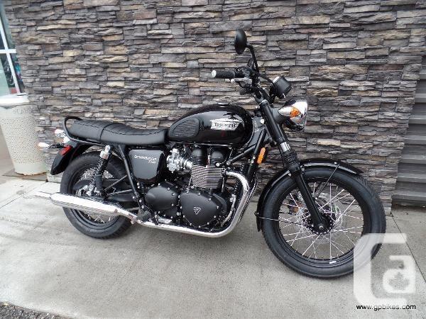 $9,995 2015 Triumph Bonneville T100 - Black Motorcycle