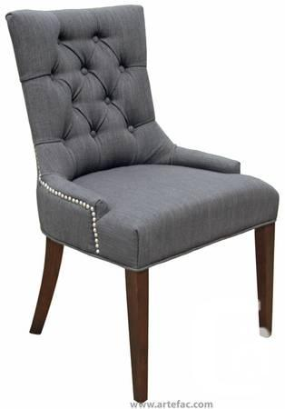 fabric chair w silver nail head in 5 colors for sale in mississauga
