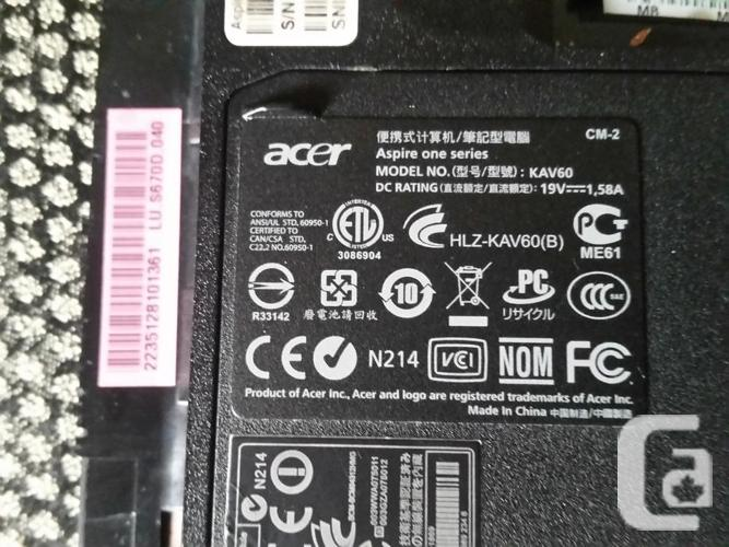 Acer Aspire One D250-1759. Cracked screen, Ram,