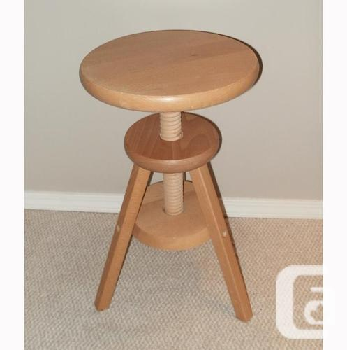 Adjustable round piano stool solid wood for sale in