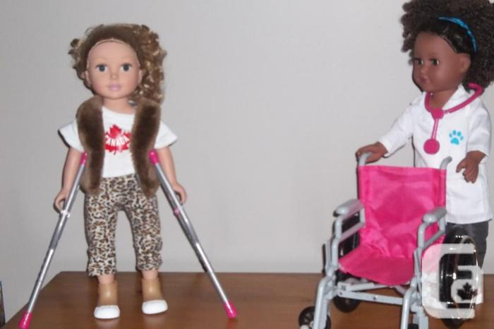 """African American 18"""" Doll + blonde doll ,"""