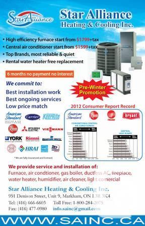 // Air Conditioning in Brampton PROMTOIONS & REBATES