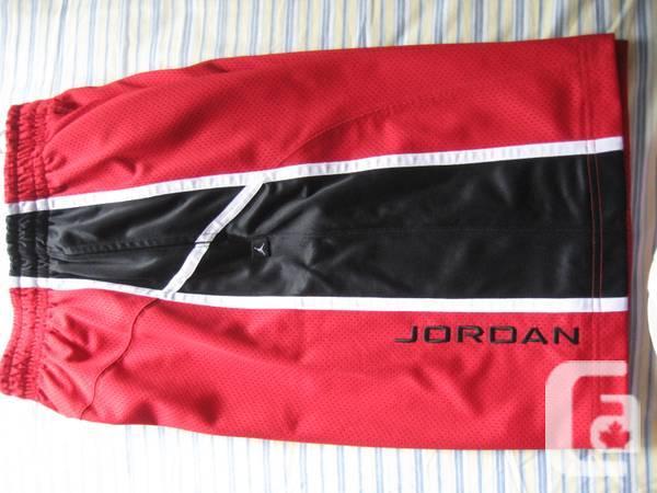 Air Jordan Shorts - Black Red - $40