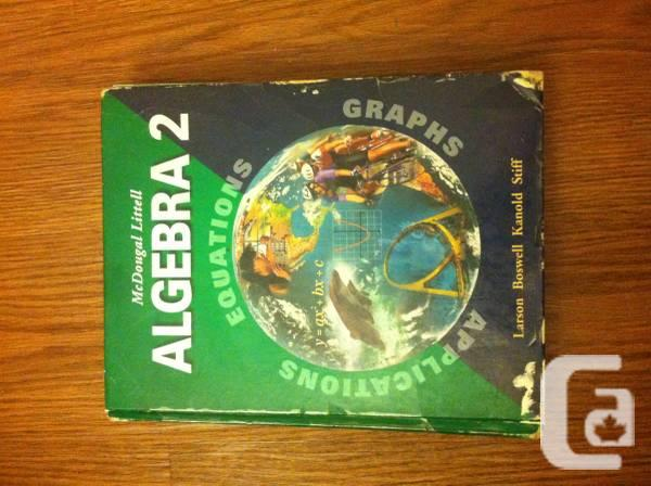 Algebra 2 McDougal Littel - $20