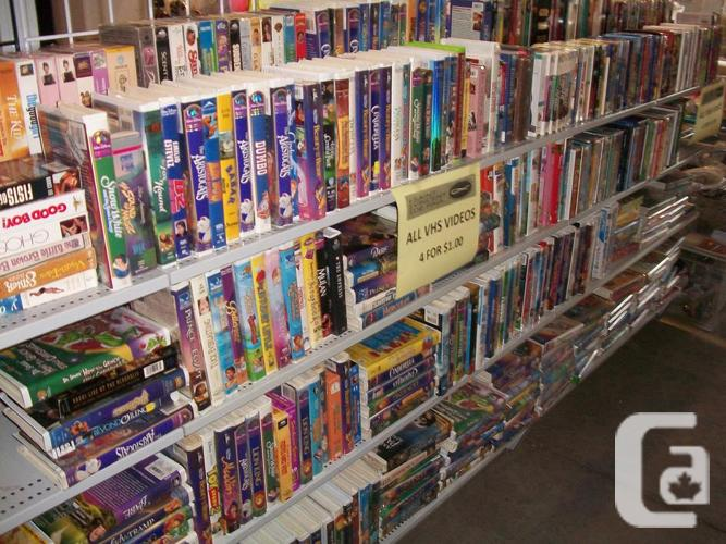 all vhs tapes now 4 for at st vincent de paul on quadra for sale in