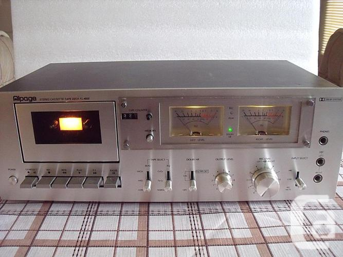 ALPAGE Stereo Cassette Deck FL-4000 Working