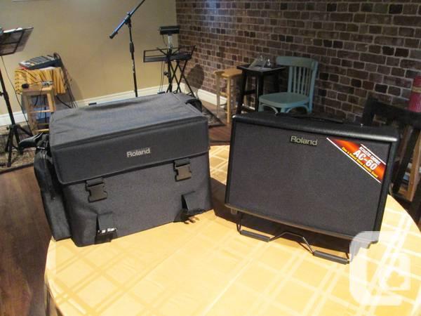 Amplificateur Acoustique Roland AC-60 avec pochette de