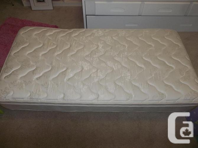 Antique bed frame with custom made frame , mattress