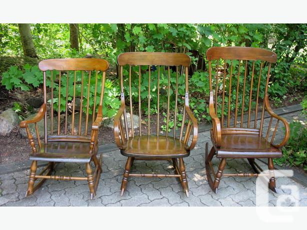 Antique Canadiana Rocking Chairs / Rockers