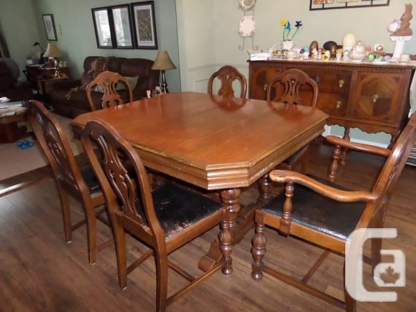 Antique Dining Set - $600