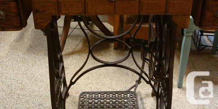 Antique Iron Base Table