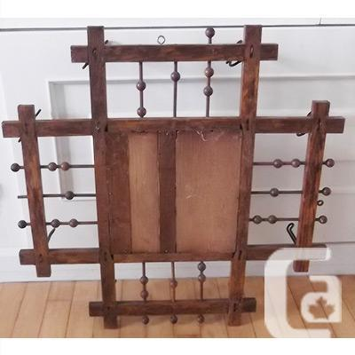 Antique mirror and hall rack