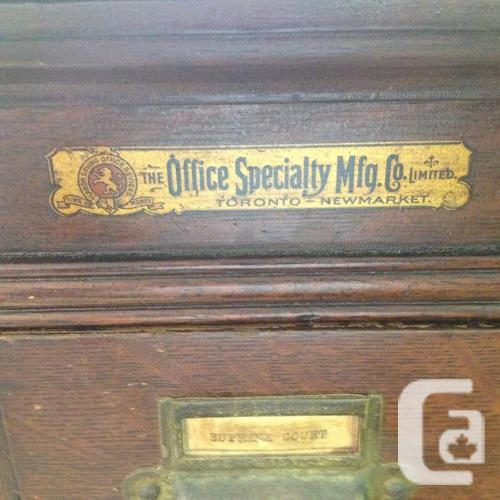 Antique Oak Barristers Filing Cabinet  Ch Town 902 394