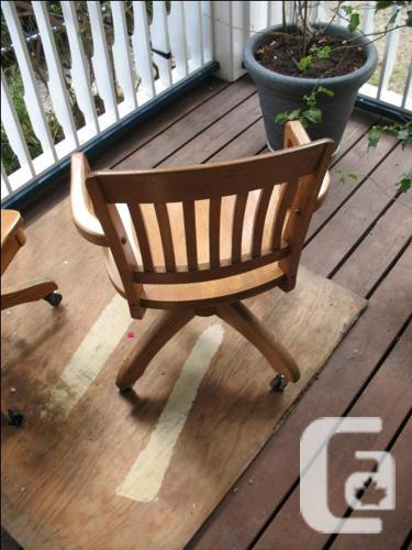 Antique Oak Executive Office Chair For Sale In South Slocan British Columbia