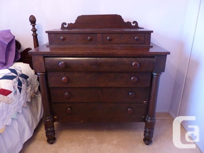 Antique pineapple single bed dresser for sale in for Furniture victoria bc
