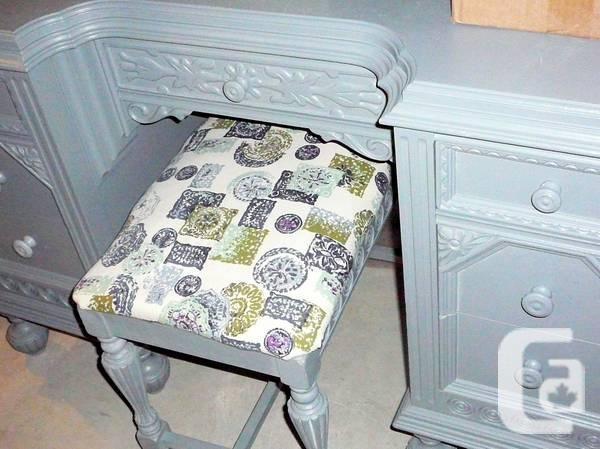 Antique ShabbyChic Vanity/Desk*Mirror*Bench* - $500