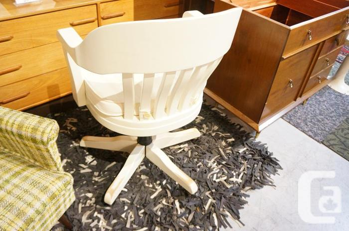 Antique Style Painted Solid Oak Executive Office Chair I