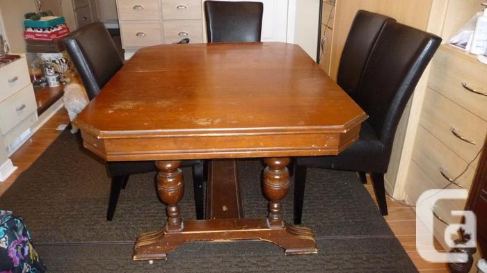 antique table and buffets