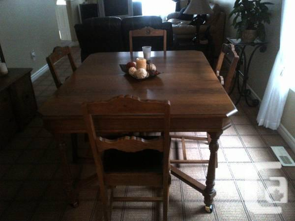Antique Table/Hutch and Chairs - $850