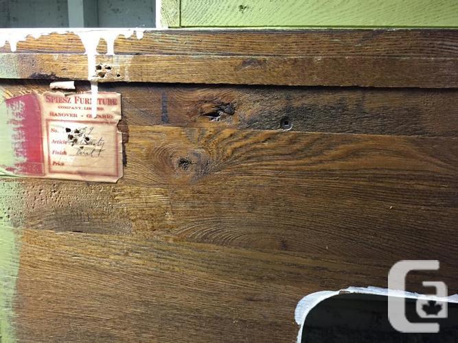 Antique Vanity Dresser & Vanity Bench