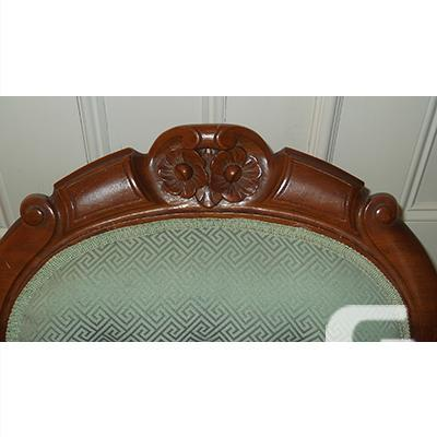 Antique Victorian Era Highback Carved Parlour Chair