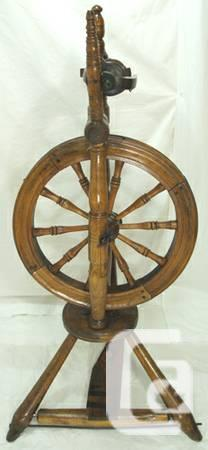 Antique Victorian Upright Spinning Wheel Circa 1800s -