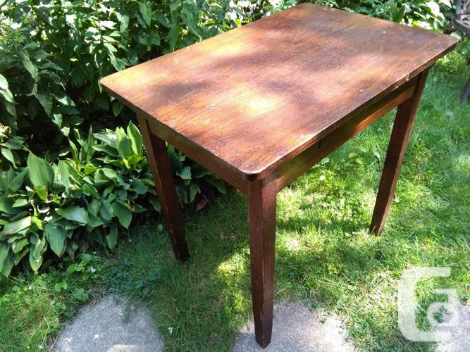 Antique Vintage Solid Wood Desk for Back to School!