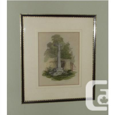 Antique W.B. Cooke Engraving of Wheston Cross