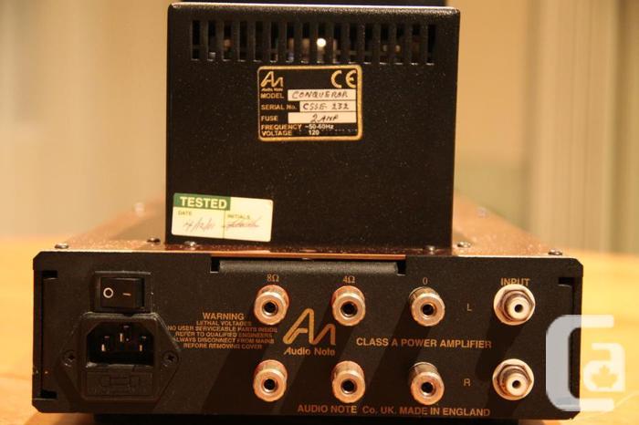 Audio Note Conqueror 300B Tube Amp in Victoria, British Columbia for sale