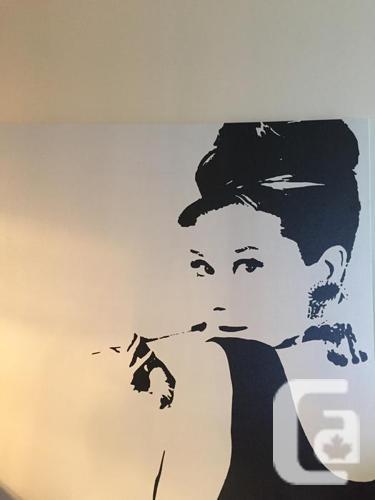 Audrey Hepburn Print  & Decorative Frame