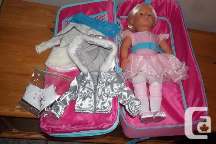 Ballerina doll with shoulder carry on and ice skating