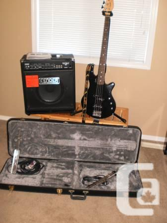 Bass Guitar with Fender Amp - $575