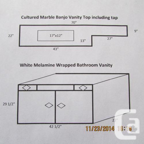 Bathroom Vanities Regina: Bathroom Vanity, Banjo Vanity Top And Tap For Sale In