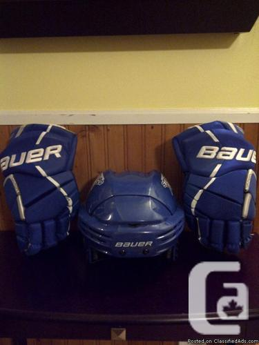 Bauer Helmet and Gloves
