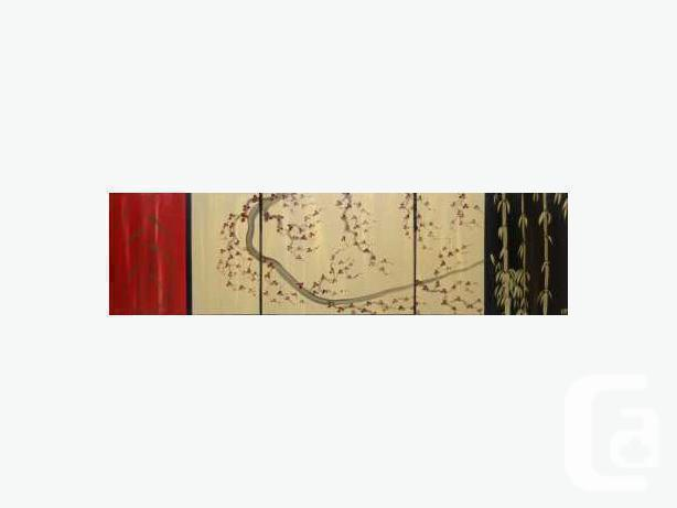 Beautiful Cherry Blossom and Bamboo Painting Original