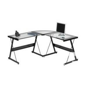 Beautiful glass top office desk L- shape excellent
